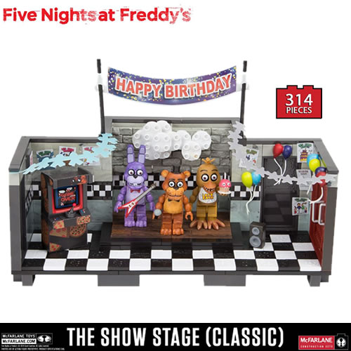 McFarlane Building Sets - Five Nights At Freddy's - Large Set - Classic Series Showstage